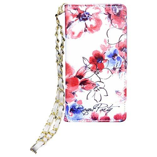 花柄がカワイイ!内側のデザインまでこだわった〝ROYARL PARY〟のストラップ付手帳型iPhoneケース