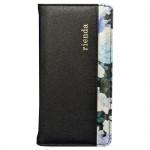 【iPhone6s/6 ケース】rienda 内側プリント ダブルローズ ブラック
