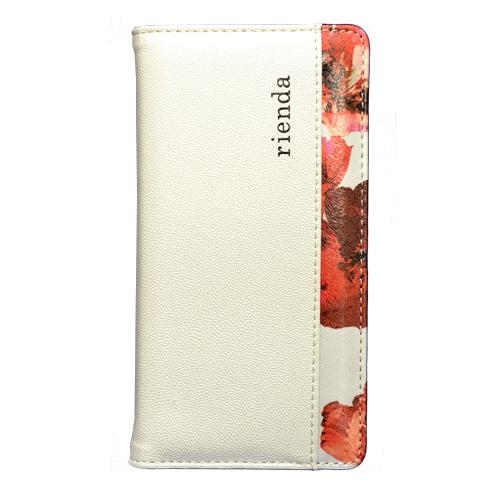 フラワーデザインがカワイイ!内側のデザインまでこだわった〝rienda〟手帳型 iPhoneケース