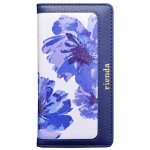 【iPhone6s/6 ケース】rienda ラージフラワー ネイビー