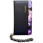 【iPhone6s/6 ケース】rienda 内側クラシックフラワー ブラック&パープル