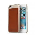 【iPhone6s/6 ケース】Slim Pocket ゴールド×ブラウン