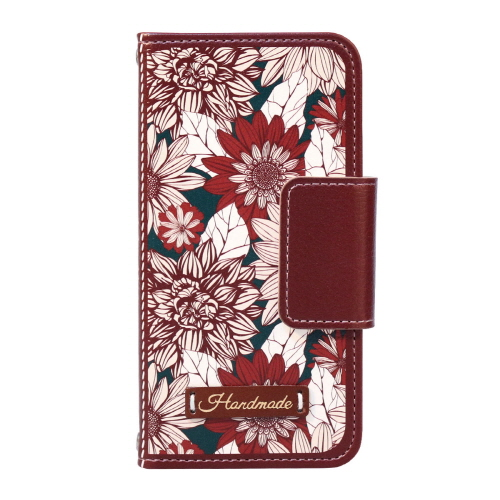 ボタニカル花柄がレトロな雰囲気を演出!アンティーク調の手帳型iPhoneケース!