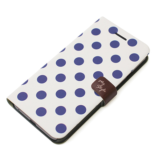 シンプルな水玉柄がカワイイ!ダイヤリータイプのiPhoneケース