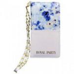 【iPhone6s/6 ケース】ROYALPARTY 花総柄harf ブルー