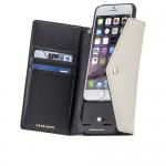 【iPhone6s/6 ケース】充電できる手帳型ケース! チャージング リストレットフォリオ ケース Black / Sand