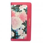【iPhone6s/6 ケース】rienda ダブルローズ ビビッドピンク