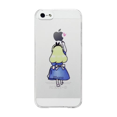 iPhoneのリンゴマークを活かした可愛いデザインが人気のクリアケース