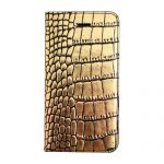 【iPhone SE 5s/5 ケース】Gold Croco Diary