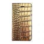 【iPhone SE 5s/5 ケース】Gold Croco Diary