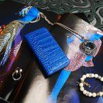 【iPhone SE 5s/5 ケース】Vivid Croco Diary コバルトブルー