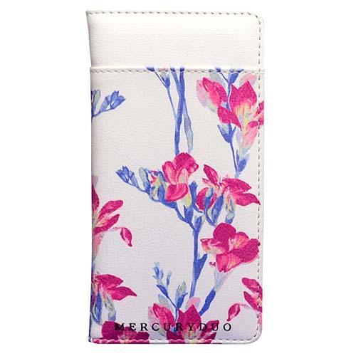 手書きのような花柄デザインがカワイイ!マーキュリーデュオの手帳型iPhoneケース