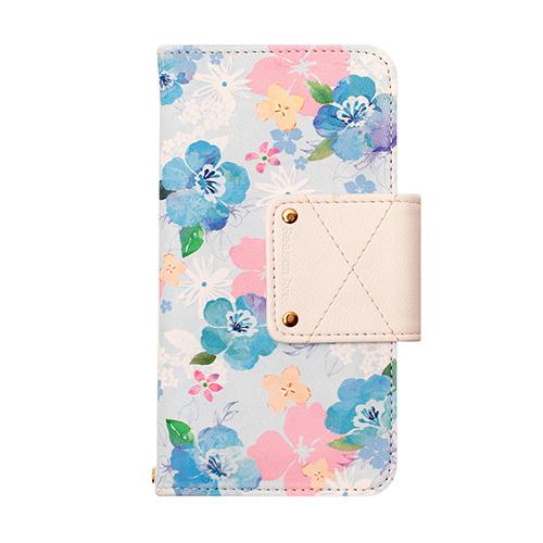-まるで水彩画-鮮やかなサクラの花のデザインの手帳型iPhoneケース!