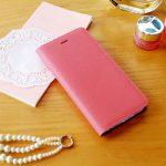 【iPhone6s/6 ケース】Saffiano Flip Case ベビーピンク