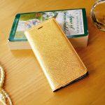 【iPhone6s/6 ケース】Saffiano Flip Case ゴールド