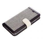 【iPhone6s/6 ケース】Herringbone Diary ブラック