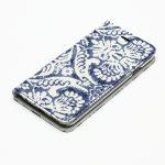 カワイイポケット付き-ブルーデニム素材を使った手帳型iPhoneケース
